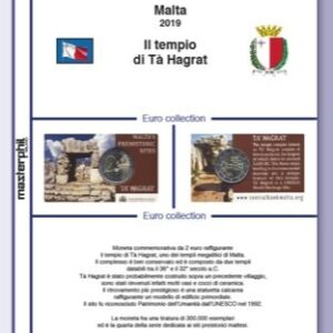 MASTER PHIL - Inserto 2 € commemorativo Malta Ta' Ħaġrat in coin card 2019